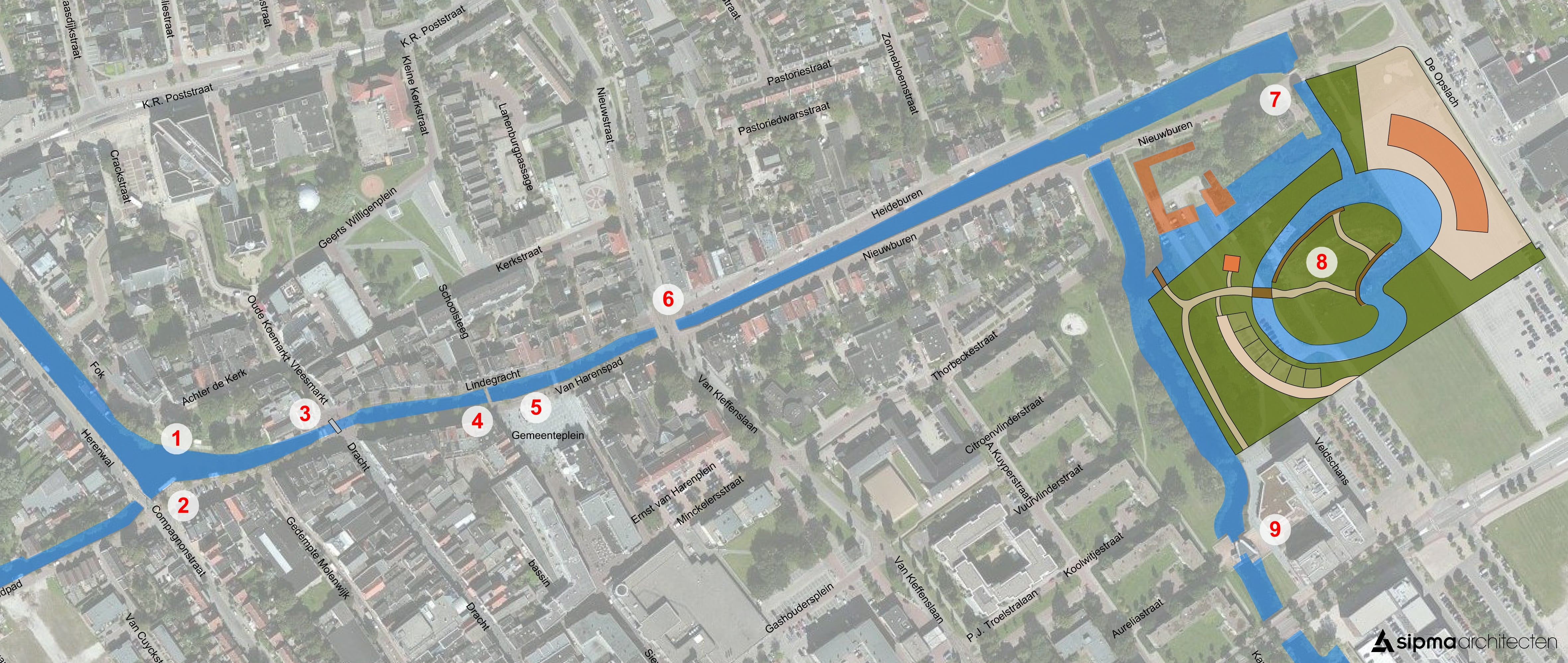 Plattegronden En Vaarroutes Heerenveen N Gouden Plak
